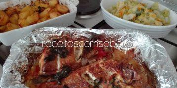 Red Fish Assado no Forno com batatas