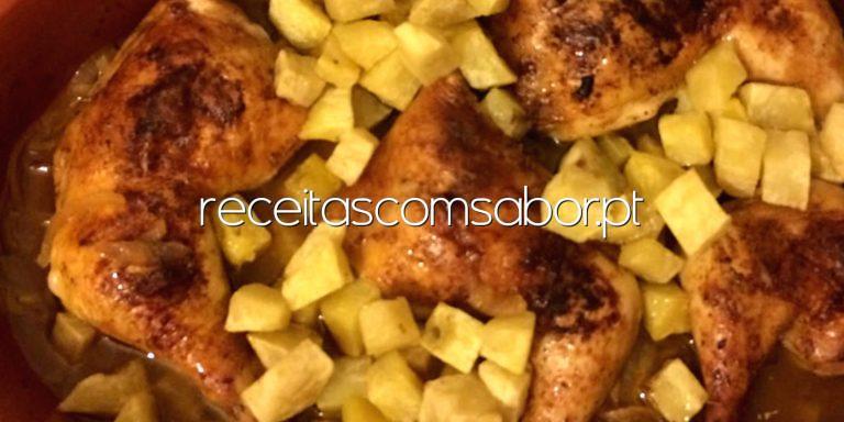 Pernas de frango assadas
