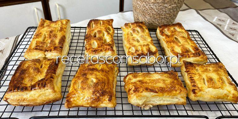Folhados de queijo com marmelada